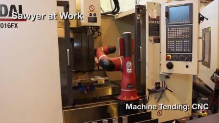 Sawyer智能协作机器人在CNC数控机床工作