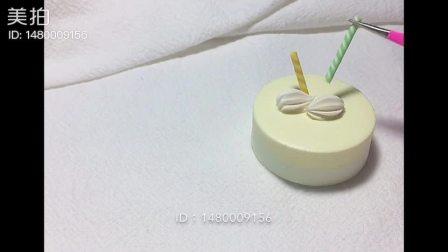 這個超小清新的轻黏土迷你小蛋糕送给你