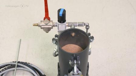 大众奥迪官方发布核桃沙清洗机操作视频
