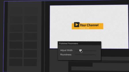 FCPX插件:社交视频网站风格LOGO标题字幕条转场侧边栏包装动画V3