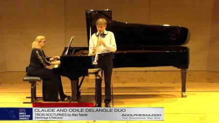 Trois Nocturnes by Alex Nante - Claude and Odile Delangle Duo