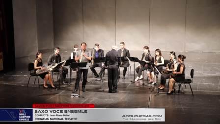 Concerto for Clarinet by Aaron Copland - Sol: Kennetg Tse - Saxo Voce Ensemble