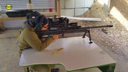 斯太尔HS50-M1远程狙击步枪,靶场射击测试 后坐力有点偏高