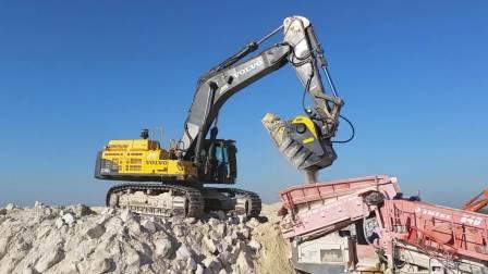 MB磨宝BF135破碎机-沃尔沃EC700CL-法国-硅材料