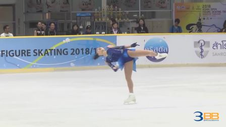 Yuna Shiraiwa. Asian open 2018 SP-2