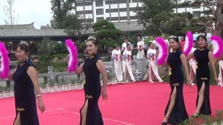 2018年8月11日建水朱家花园首届旗袍秀大赛参赛的旗袍美人们(摄像:竺桦)