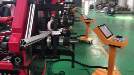 新能源汽车顶梁A柱型材三维弯曲 数控滚弯机 型材弯曲机