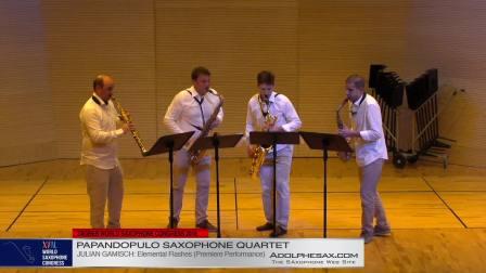 Elemental Flashes by Julian Gamisch -  Papandopulo Saxohone Quartet