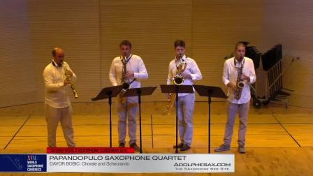 Chorale & Scherzo by Davor Bobic -  Papandopulo Saxohone Quartet