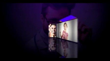 时尚现代三维效果立方体翻转展示介绍创意设计AE模版