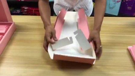 对折包装 单层月饼盒折叠视频