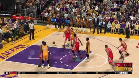 NBA2K17火箭王朝模式名人堂难度 姚明年 16赛季 第一场 客场VS湖人