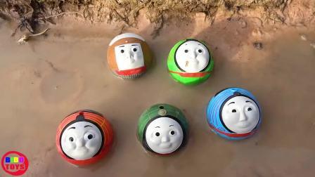 托马斯小火车 玩具分享英语 08 thomas and friends toy trains there is a ghost