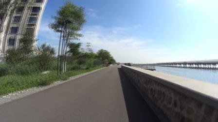 骑行天津中新生态城印象海堤公园