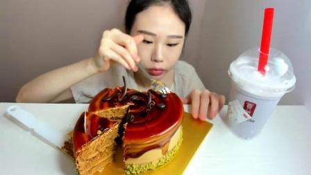 【韩国吃播】弗朗西斯卡吃播5篇-蛋糕[2018.8.24]