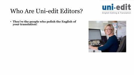 Uni-edit翻译简介|Mark Streer介绍质量的期望