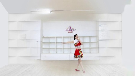 刘荣广场舞《青藏女孩》原创附教学和背面演示