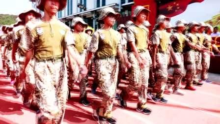外国语学校18年震憾军训视频