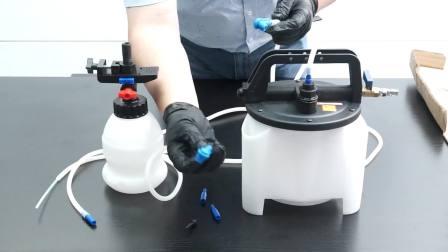致优工具 2升 气动刹车油更换机 制动液更换加注器 抽刹车油 放气补充