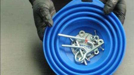 致优工具 可伸缩磁性零件托盘 螺丝钉头磁碗 磁性小零件吸纳工具盘大规格