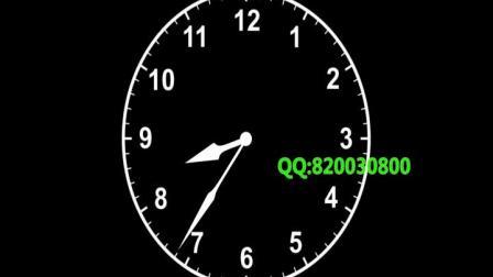 时钟钟表指针旋转时间时光流逝延时(7173)1080P