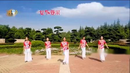 腊月广场舞 -《路边的野花不要采》正 背面演示.mp4