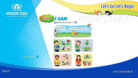 Unit 8 - I Can - Student book - Let's Go Let's Begin