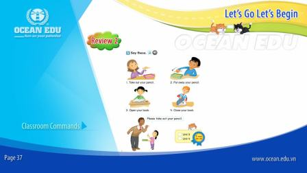 Review 2 - Classroom Commands - Student book - Let's Go Let's Begin