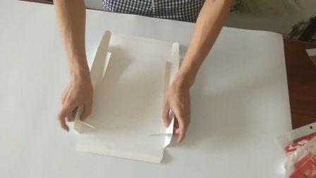 蛋糕盒上盖折叠方法