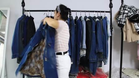 精品女装批发服装批发时尚服饰时尚女士精品春秋款牛仔系列走份30件一份,视频款仅一份挑款零售混批