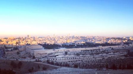 耶路撒冷古城橄榄山日出