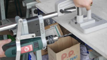 GPD-233S 輕便型電鑽側邊鑽孔座(含真空吸盤底座)