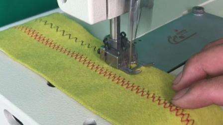 思坦途双针曲牙缝纫机,曲牙机品牌,自动攻牙设备,狗牙机花边机,仿手工缝纫机设备,特种缝纫机,曲牙机操作视频及布样图