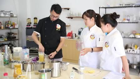 广州甜品培训崔师傅,私房金桔水果茶的制作