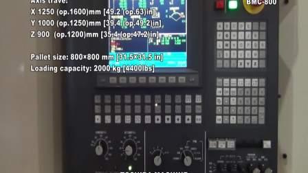 卧式加工中心 BMC-800 东芝机械 英文版