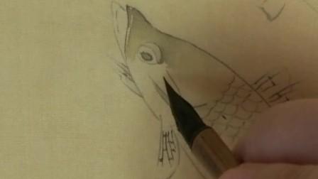 跟乐知轩主(耿老师)学工笔画——《春溪水族图》(2)