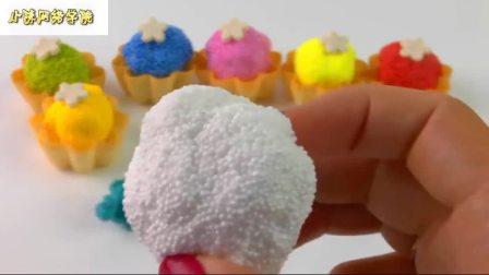 用许多光滑闪闪发光的泡沫甜点来学习颜色冰淇淋蛋糕解压蛋糕蛋糕游戏机