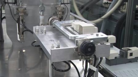 双材树脂注塑+自动组装EC180SX2-4A/多关节机器人TV1000H/自动组装装置(东芝机械2016社内展)