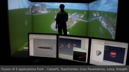 融合模块同时同屏VR可视化五款软件内容Catia, Creo, TeamCenter, Leica Cyclone, EnSight——TechViz性能展示