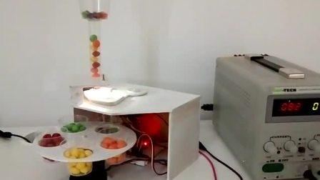 Arduino驅動的機電顏色分選機