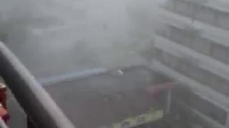 台风山竹袭来,十分恐怖