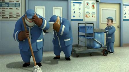 熊出没 熊大熊二扮成清洁工去医院看望老军人