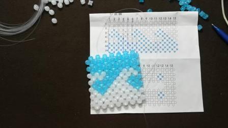 芳芳串珠城海浪纸巾盒一串珠diy