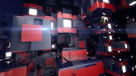 三维场景科技栏目电子屏变换体育娱乐运动栏目