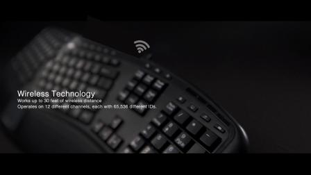 Adesso Tru-Form 4500 – 2.4GHz Wireless Ergonomic Touchpad Keyboard