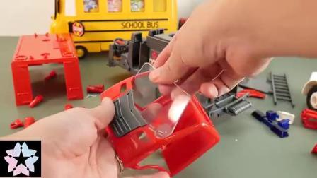 儿童玩具 超大仿真消防车拼装