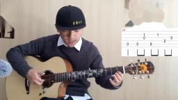 【潇潇指弹教学】郑成河《Gravity》第二部分吉他教学