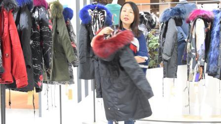 18冬季新款派克服女装实体店货源批发,品牌女装折扣一手货源