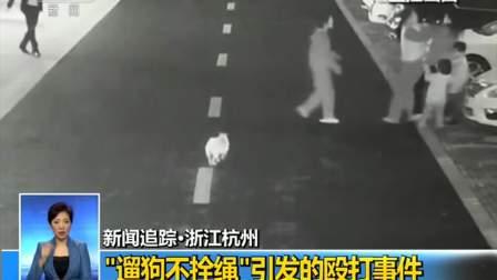 """新闻追踪·浙江杭州 """"遛狗不拴绳""""引发的殴打事件 20181107"""