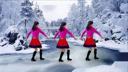 玫香广场舞《雪山阿佳》12步入门基础步,藏族歌曲好听大气